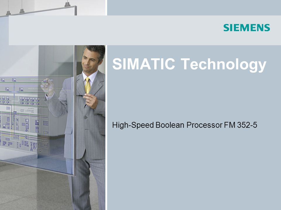 SIMATIC Technology High-Speed Boolean Processor FM 352-5