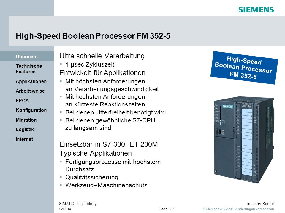 High-Speed Boolean Processor FM 352-5