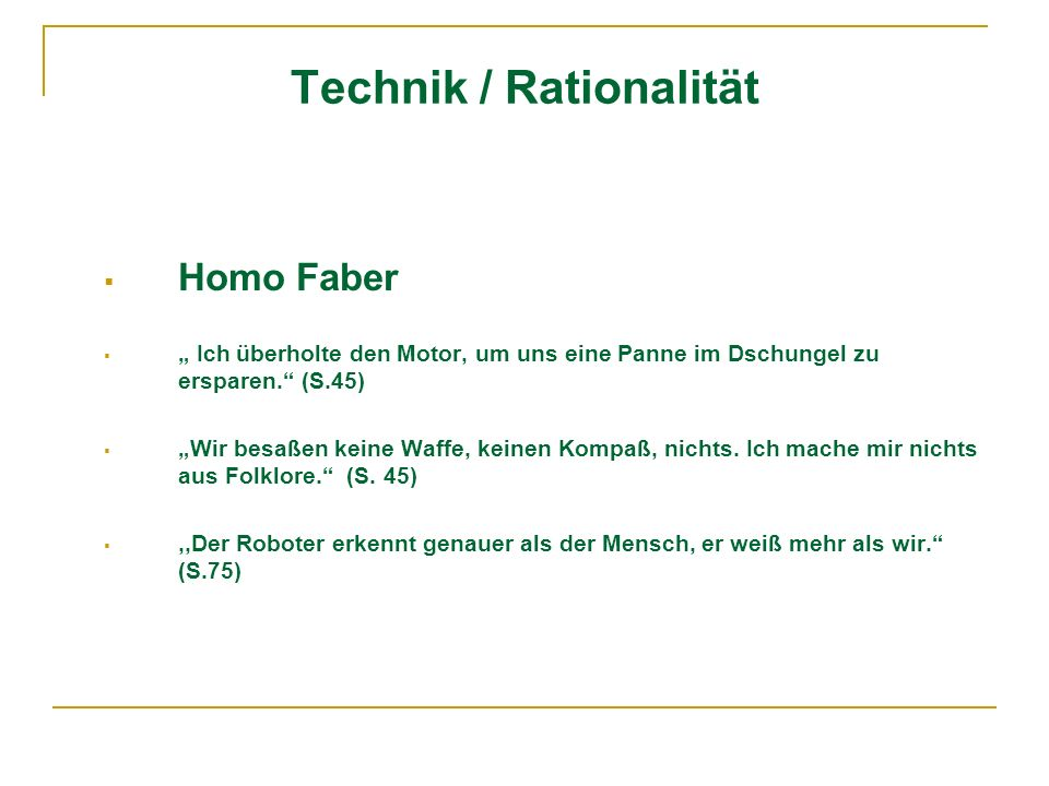 Technik / Rationalität