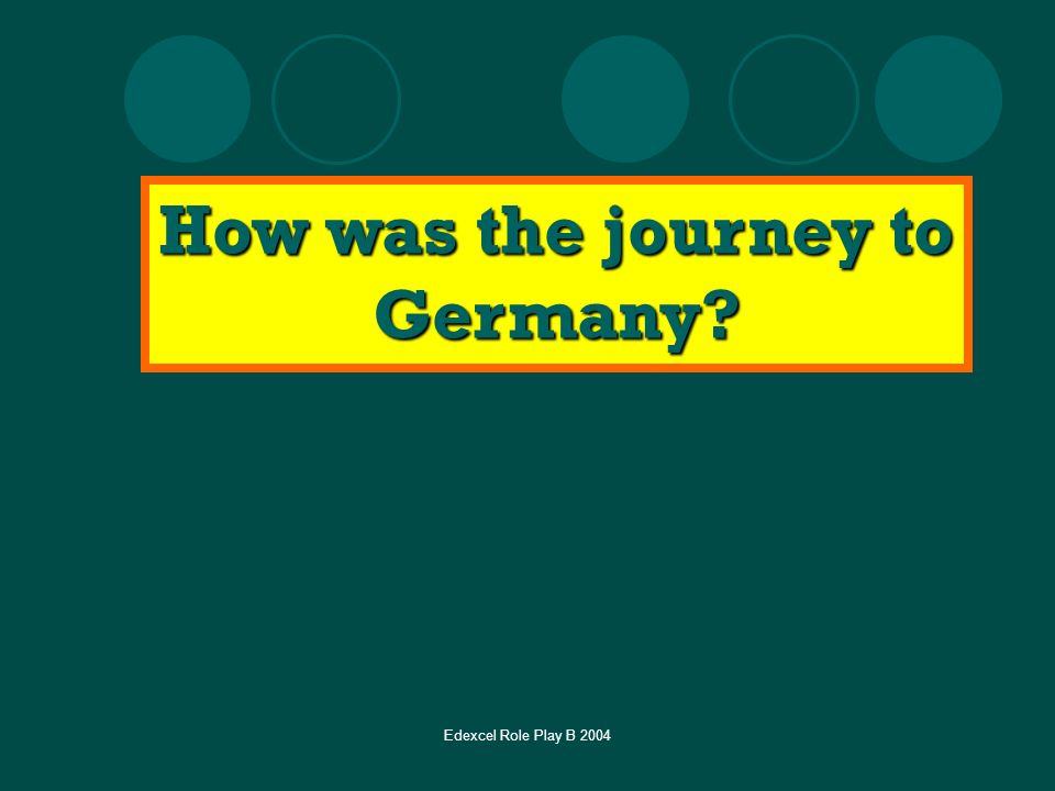 How was the journey to Germany