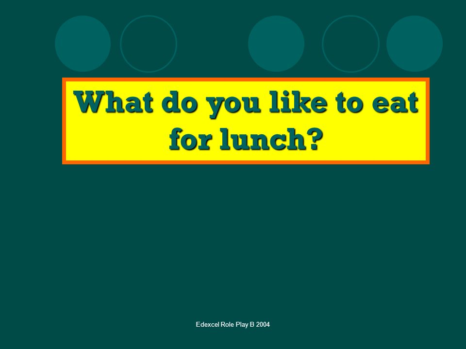What do you like to eat for lunch