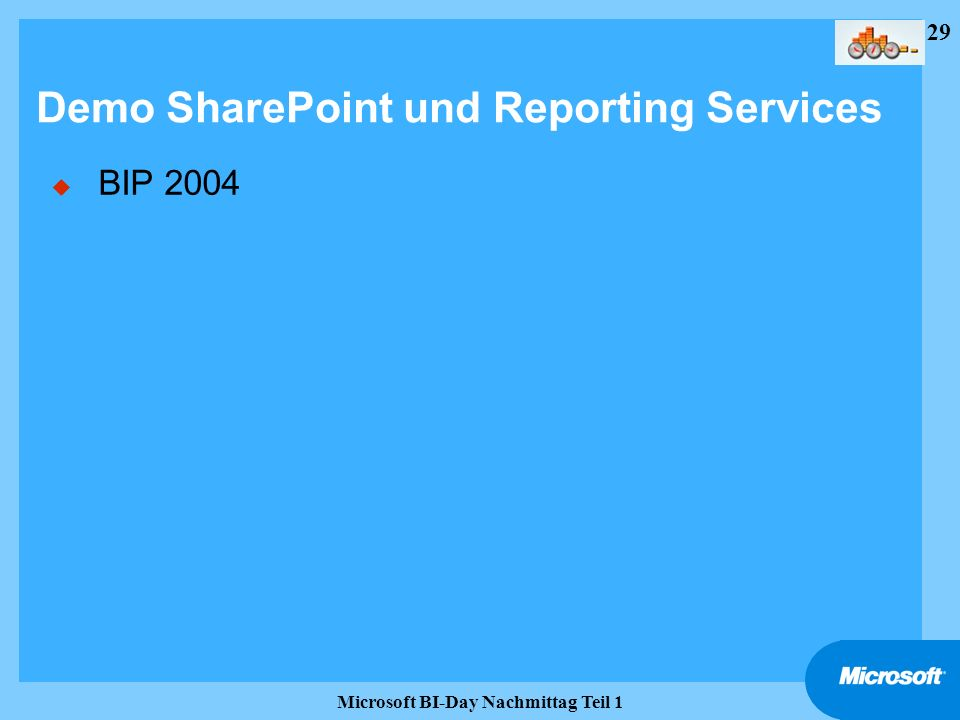 Demo SharePoint und Reporting Services