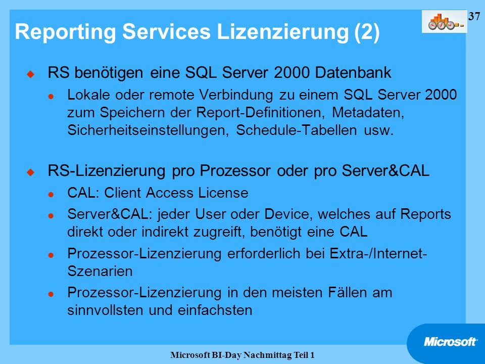 Reporting Services Lizenzierung (2)
