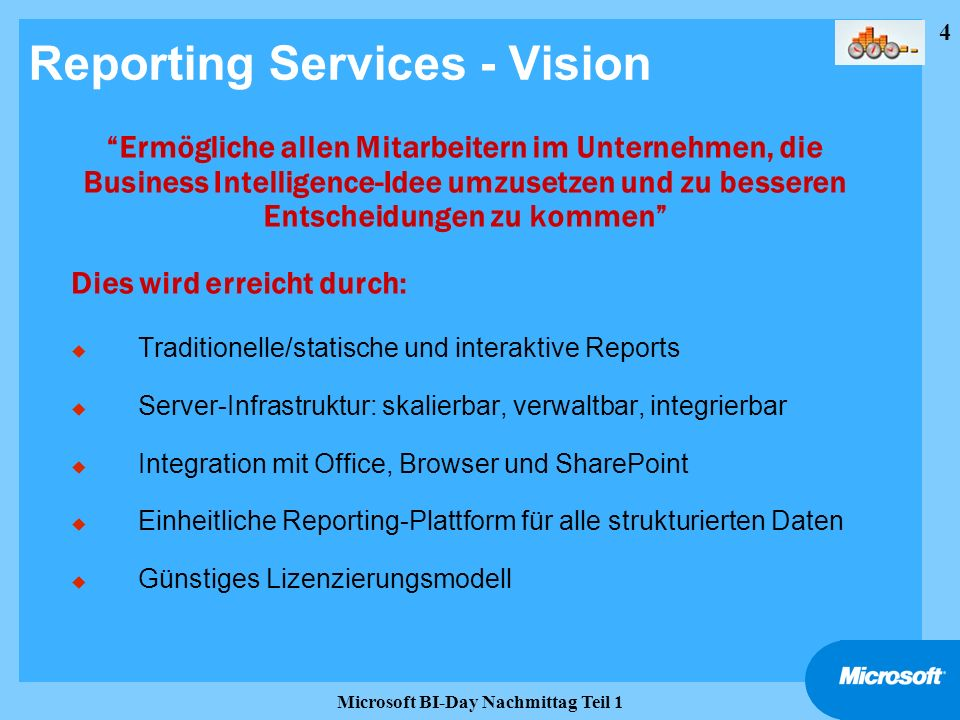 Reporting Services - Vision