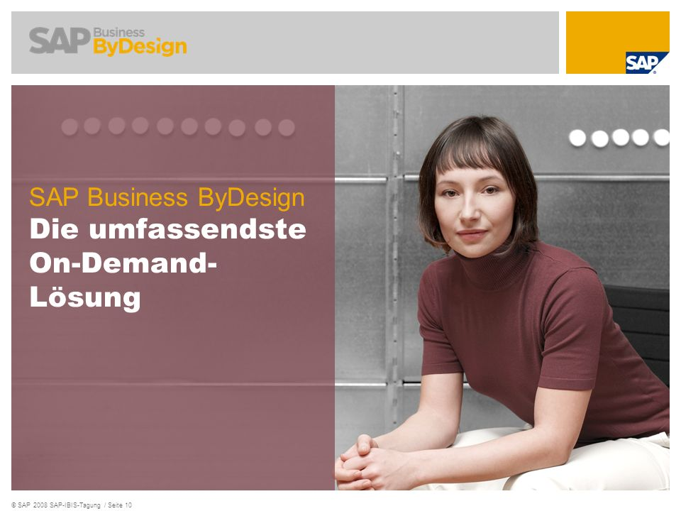SAP Business ByDesign Die umfassendste On-Demand- Lösung