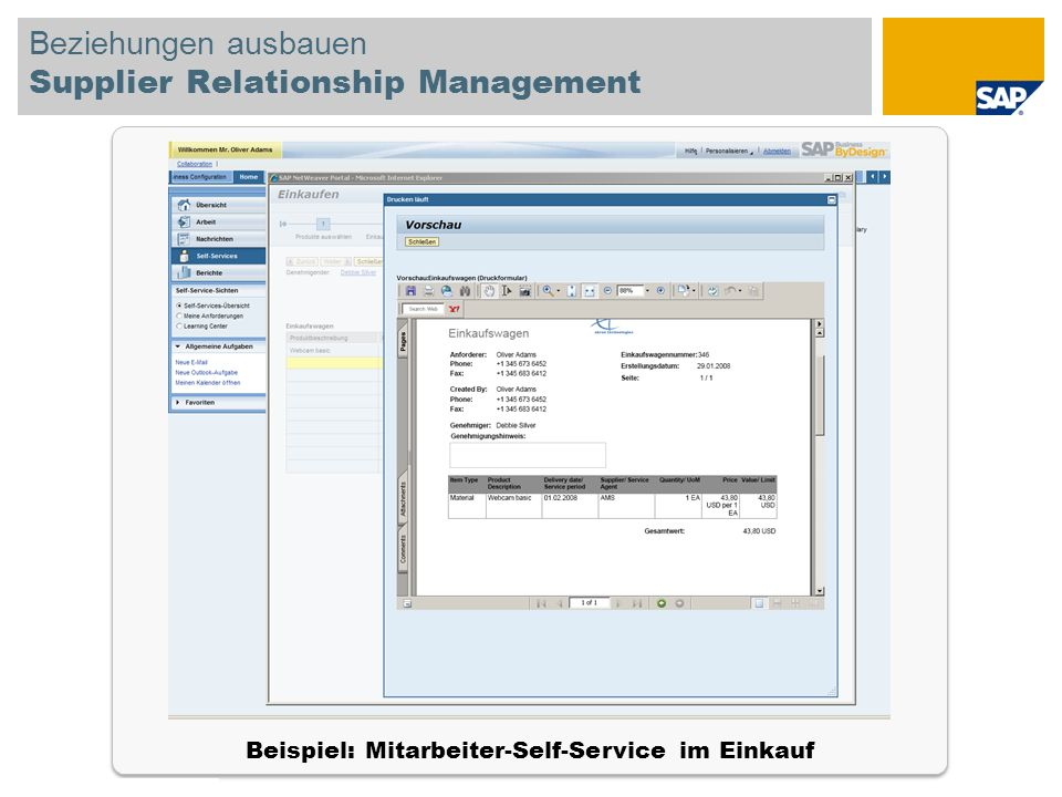 Beziehungen ausbauen Supplier Relationship Management
