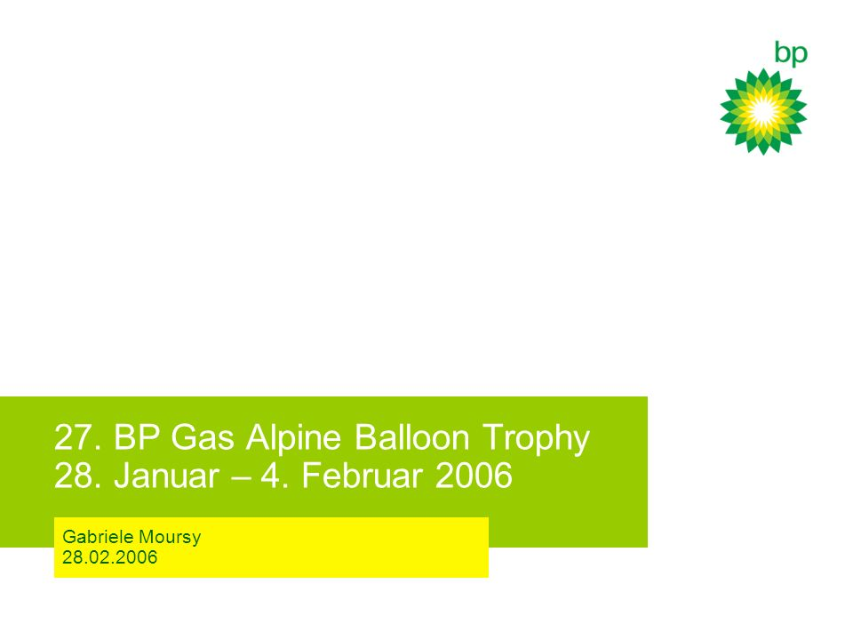 27. BP Gas Alpine Balloon Trophy 28. Januar – 4. Februar 2006