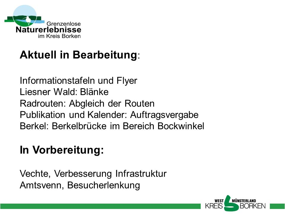 Aktuell in Bearbeitung: