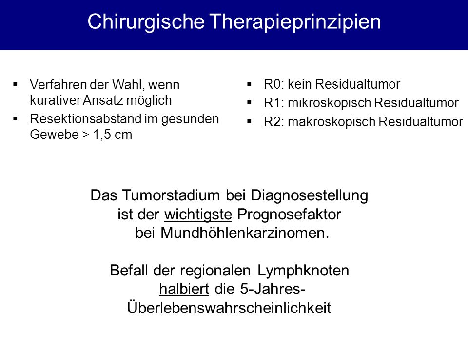 Chirurgische Therapieprinzipien