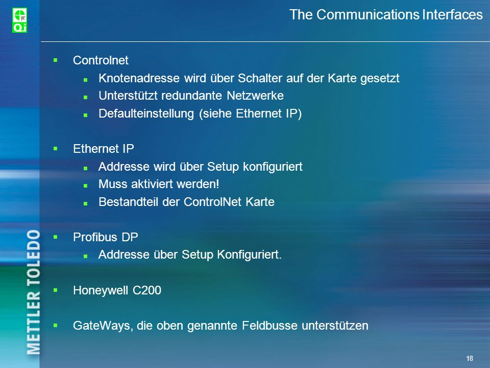 The Communications Interfaces