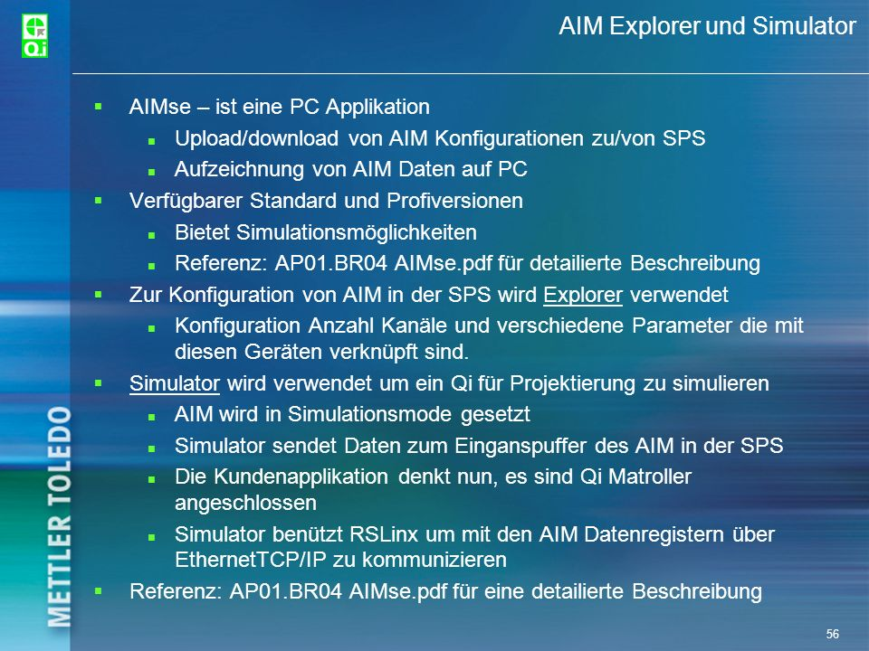 AIM Explorer und Simulator