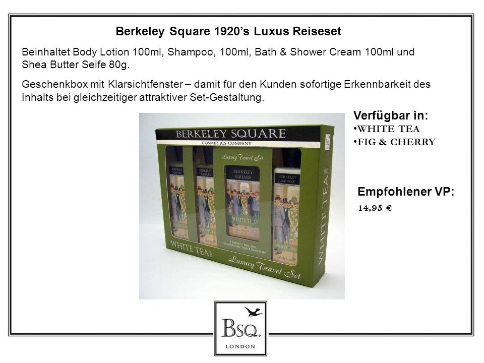 Berkeley Square 1920's Luxus Reiseset