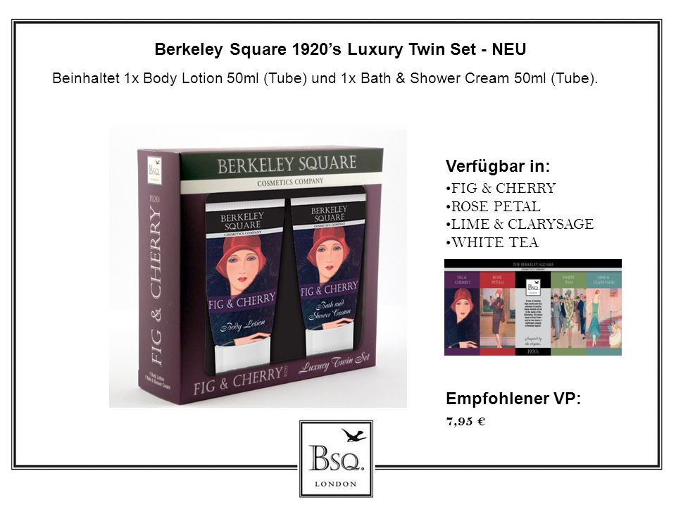 Berkeley Square 1920's Luxury Twin Set - NEU