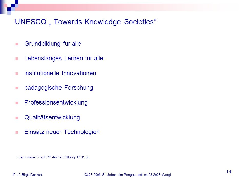 "UNESCO "" Towards Knowledge Societies"