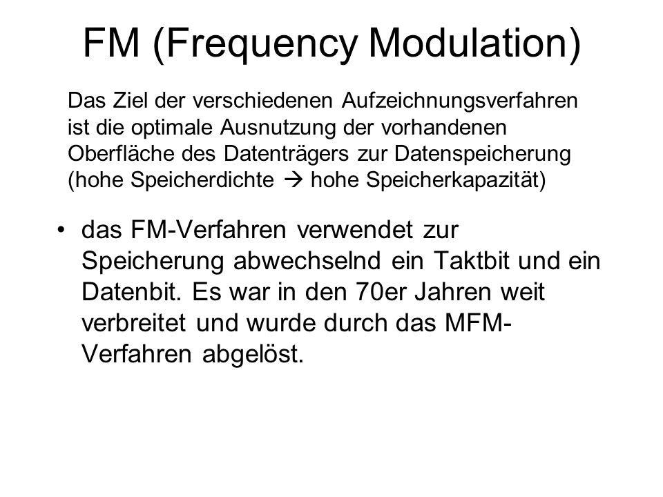 FM (Frequency Modulation)