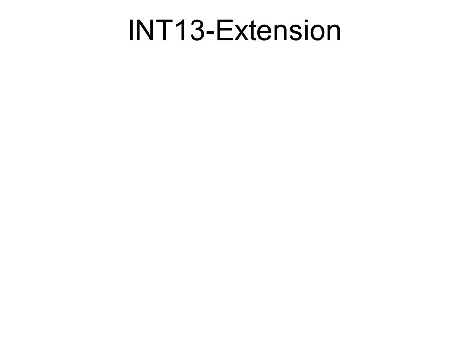 INT13-Extension