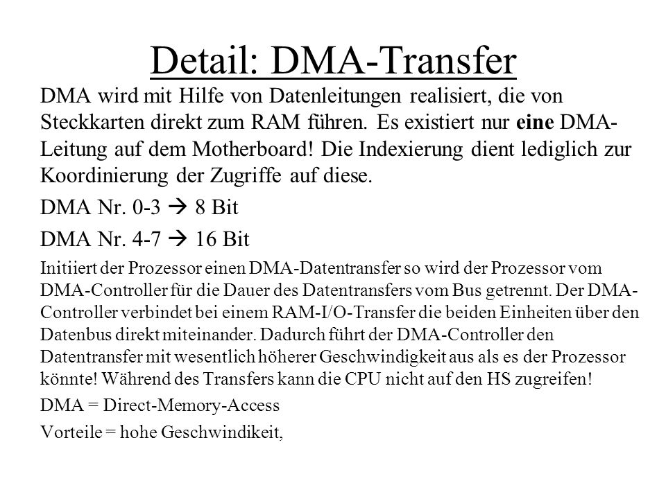 Detail: DMA-Transfer