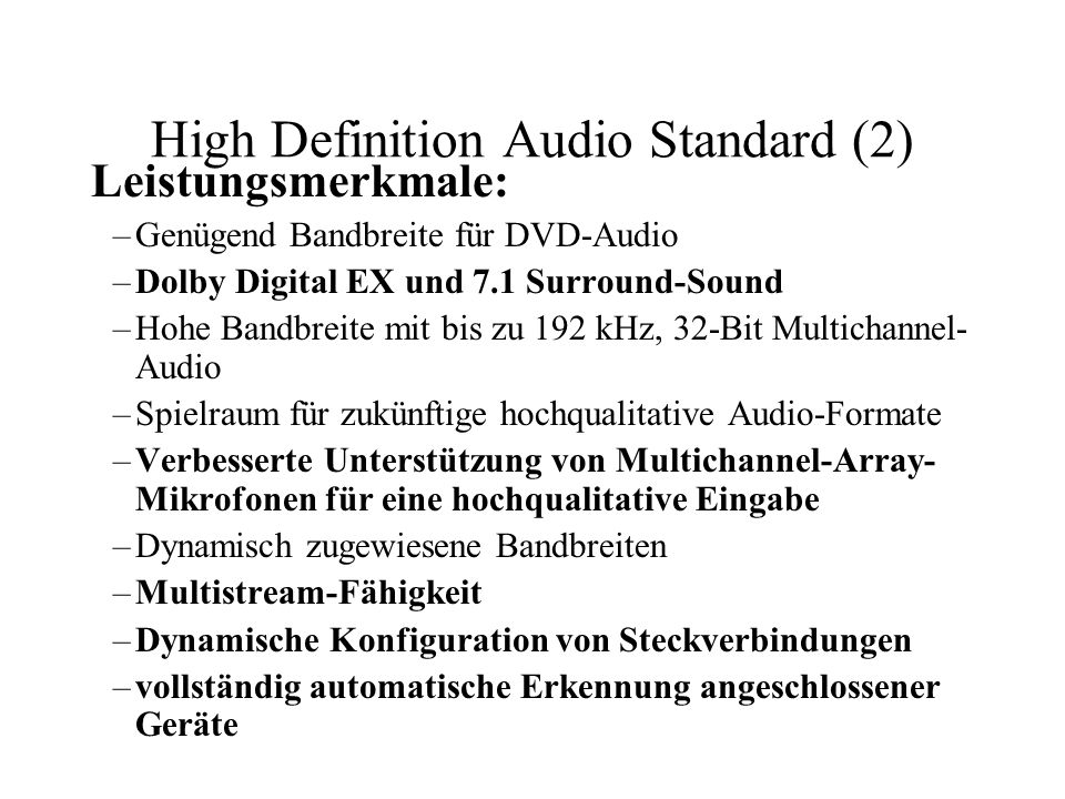 High Definition Audio Standard (2)