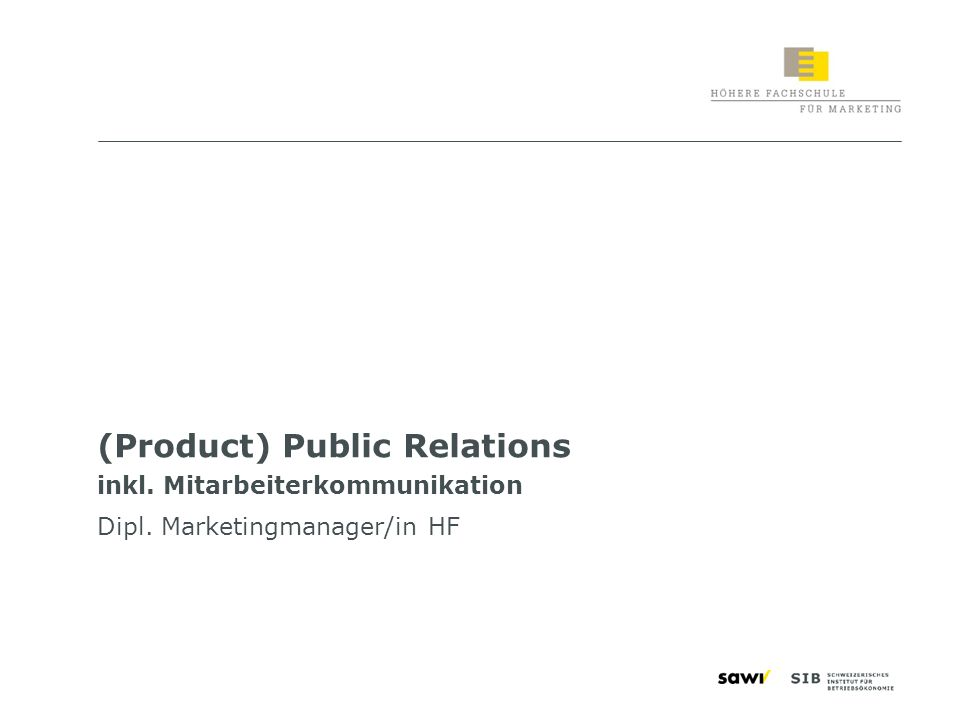 (Product) Public Relations