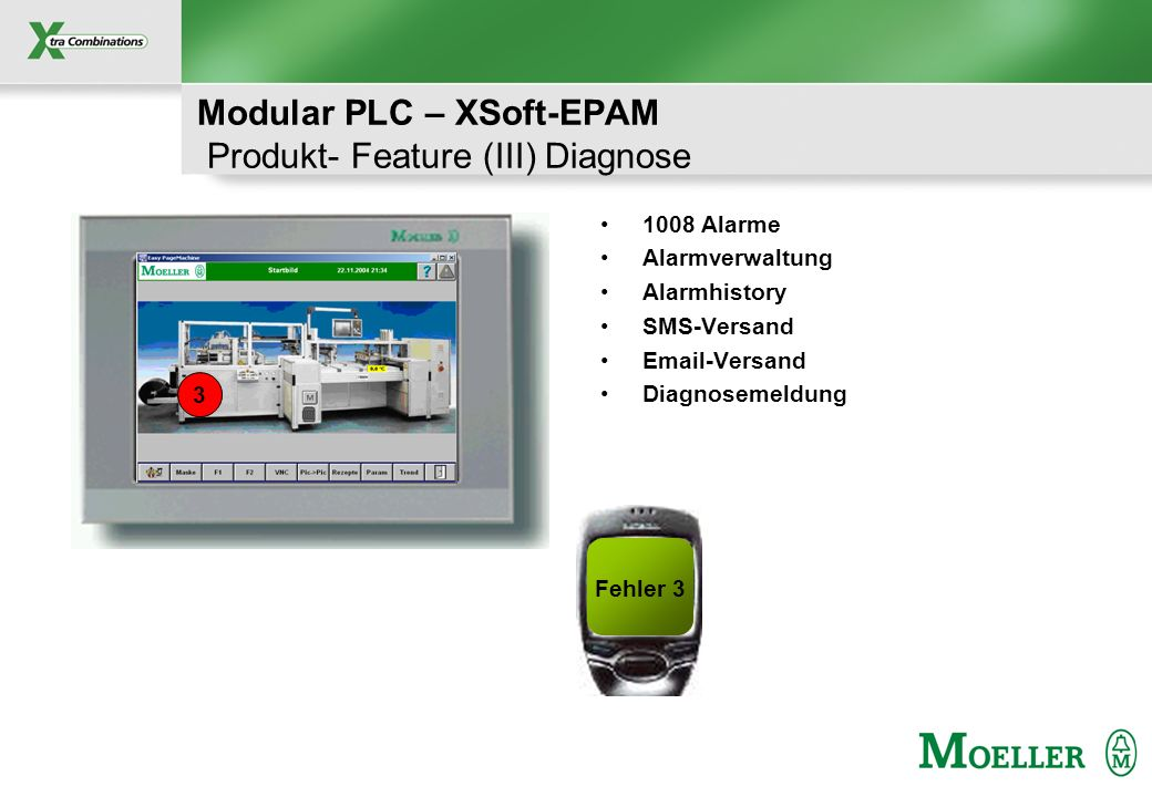 Modular PLC – XSoft-EPAM Produkt- Feature (III) Diagnose