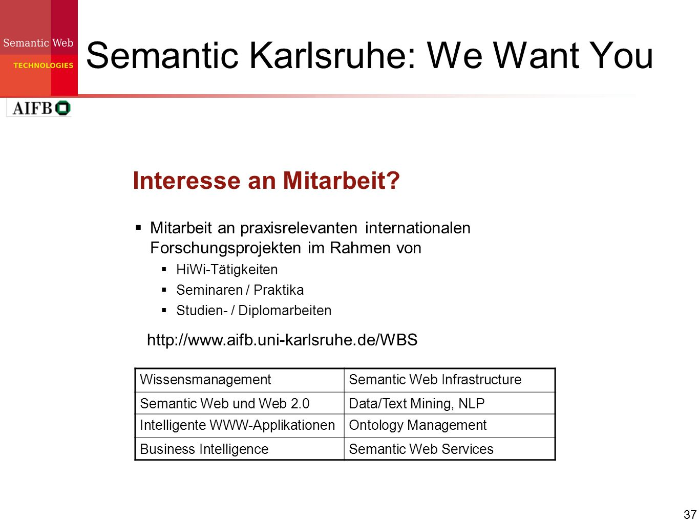 Semantic Karlsruhe: We Want You