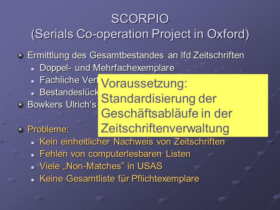 SCORPIO (Serials Co-operation Project in Oxford)