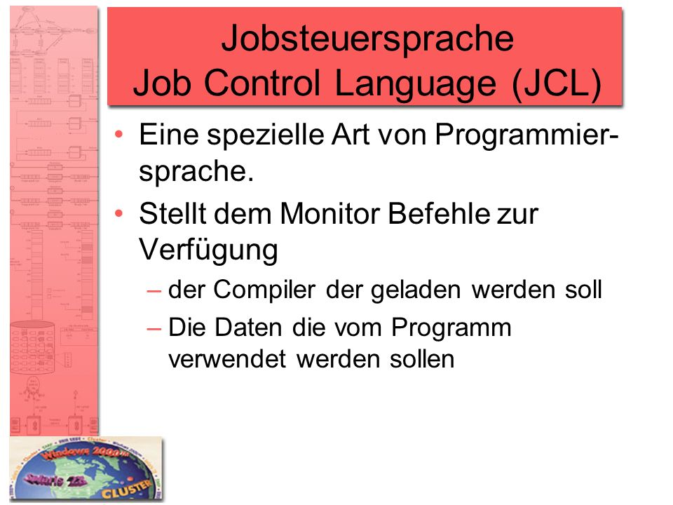 Jobsteuersprache Job Control Language (JCL)