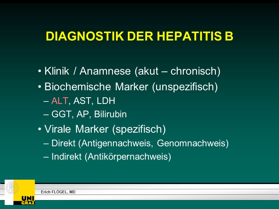 DIAGNOSTIK DER HEPATITIS B