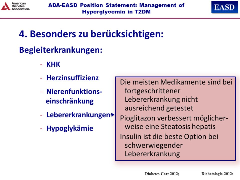 ADA-EASD Position Statement: Management of Hyperglycemia in T2DM