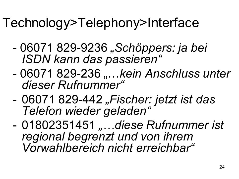 Technology>Telephony>Interface