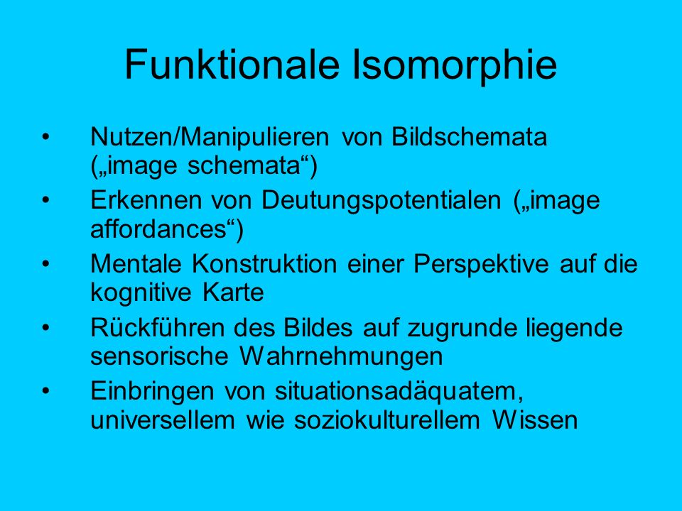 Funktionale Isomorphie