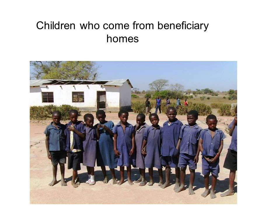 Children who come from beneficiary homes