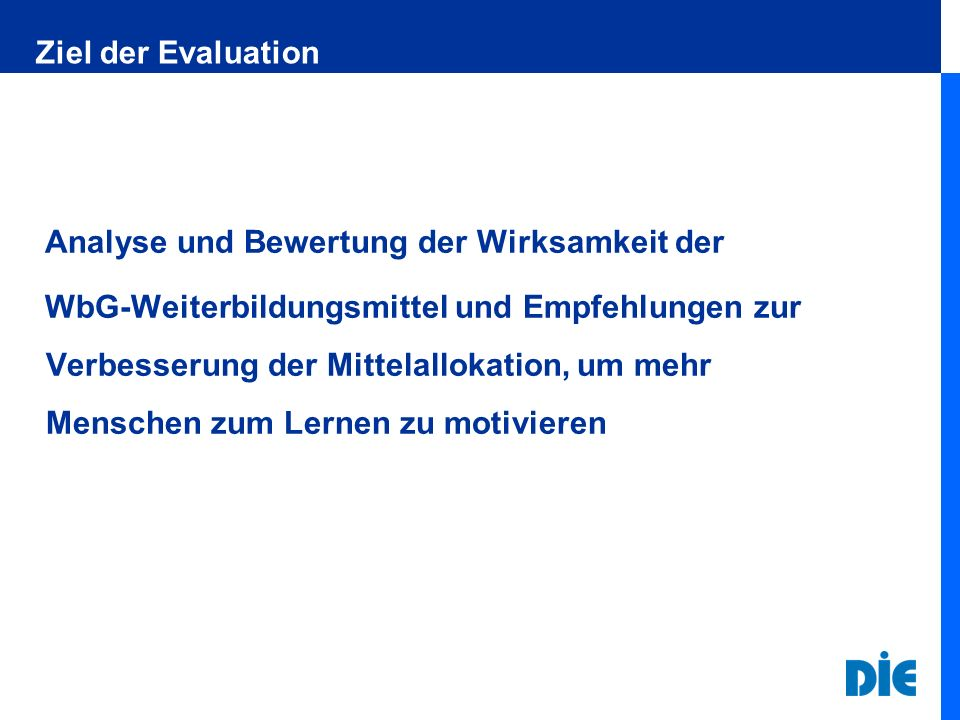 Ziel der Evaluation