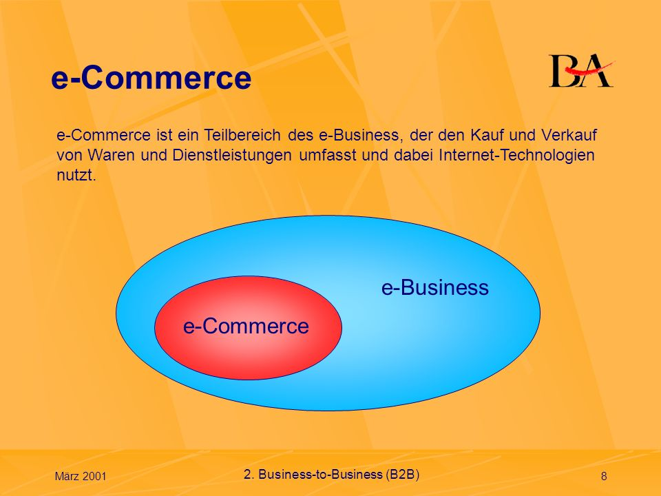 e-Commerce e-Business e-Commerce