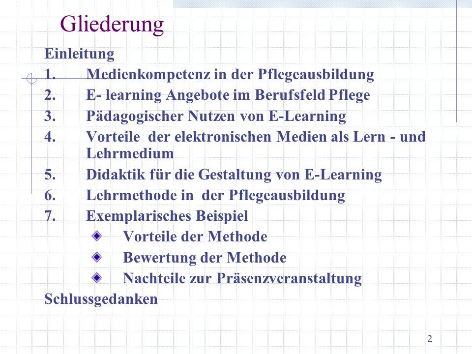 E Learning In Der Pflegeausbildung Exemplarisches Beispiel Aus Der