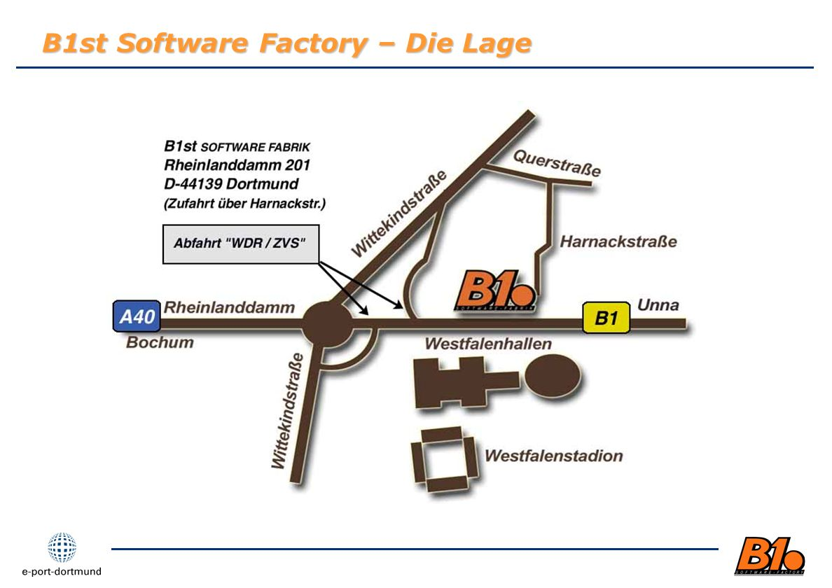 B1st Software Factory – Die Lage