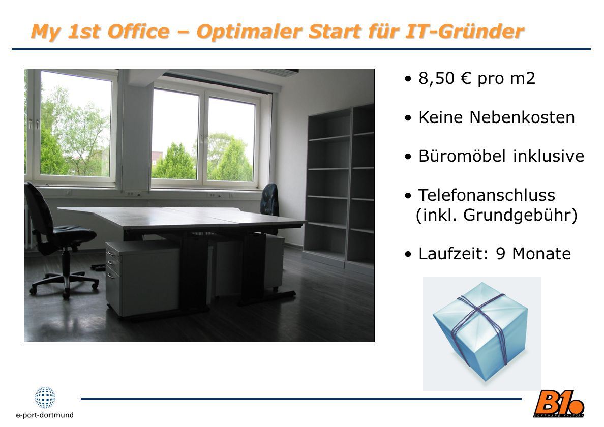 My 1st Office – Optimaler Start für IT-Gründer