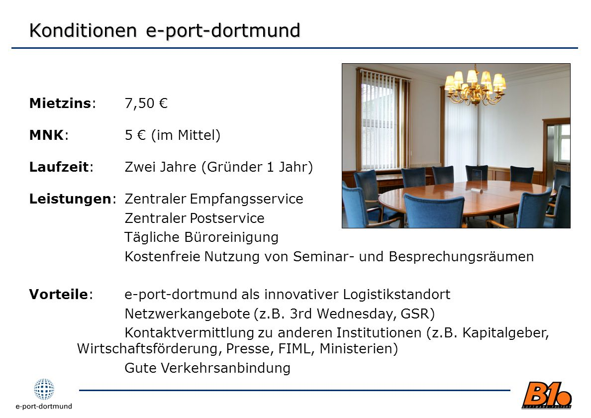 Konditionen e-port-dortmund