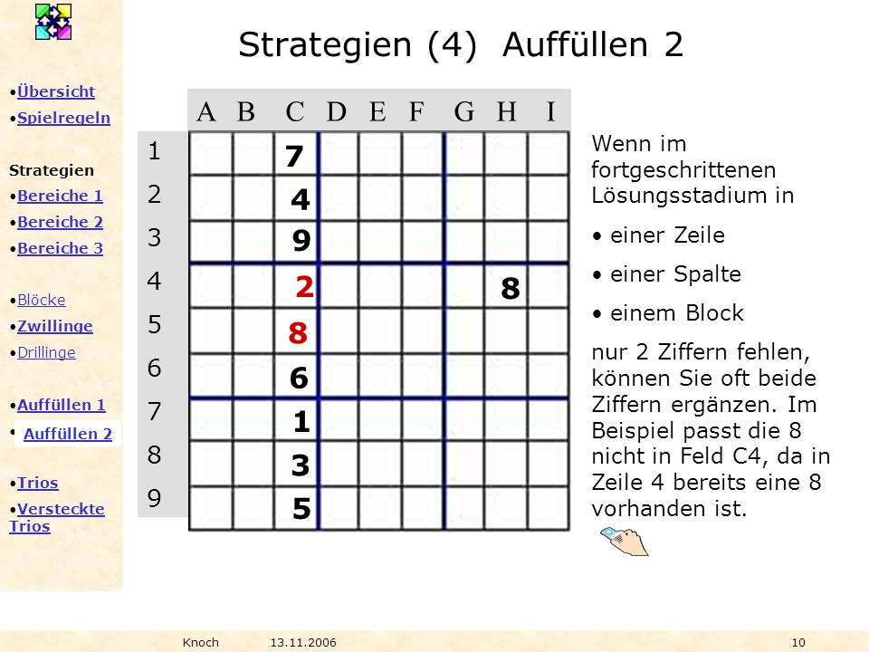 Strategien (4) Auffüllen 2