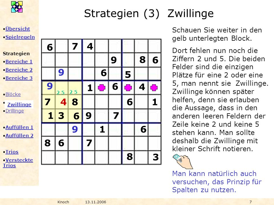 Strategien (3) Zwillinge