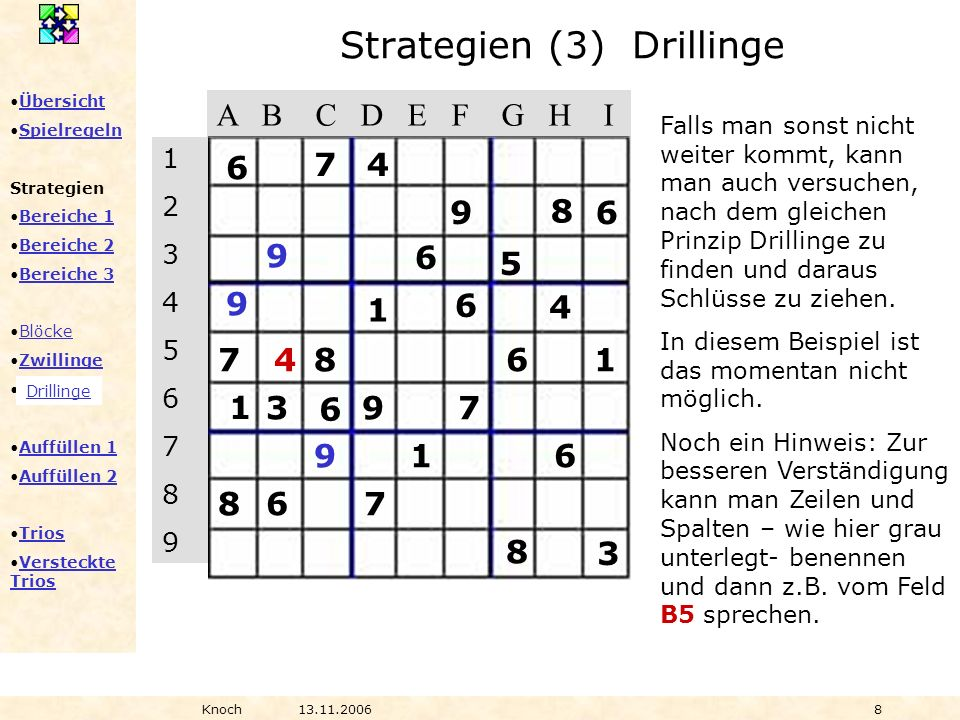 Strategien (3) Drillinge