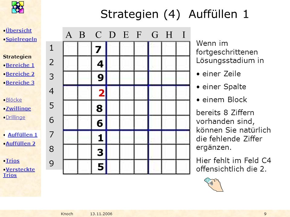 Strategien (4) Auffüllen 1