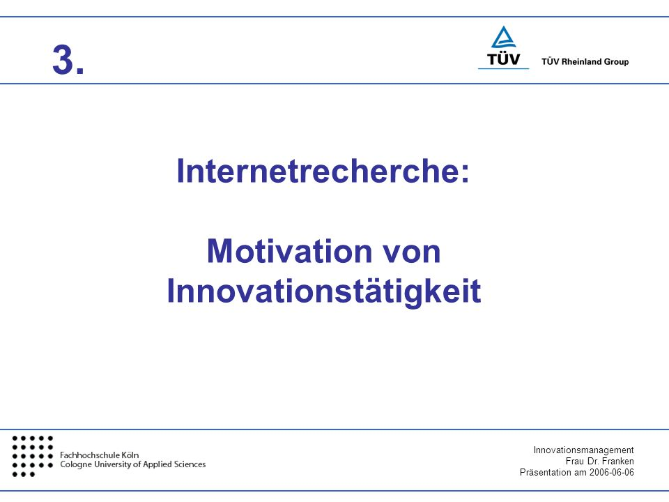 Motivation von Innovationstätigkeit