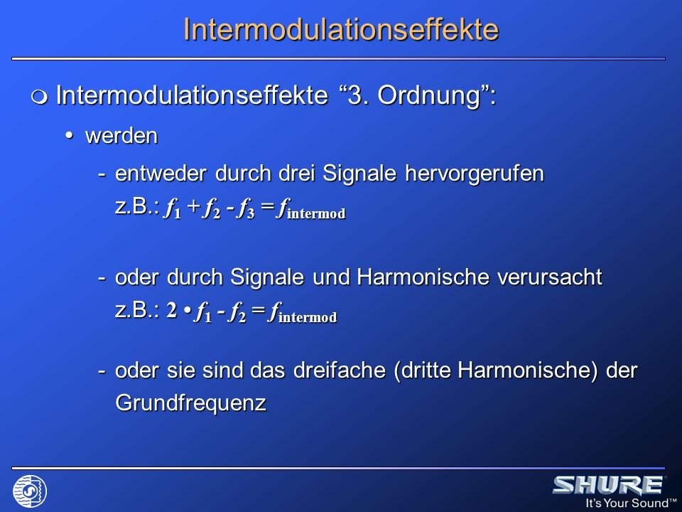 Intermodulationseffekte