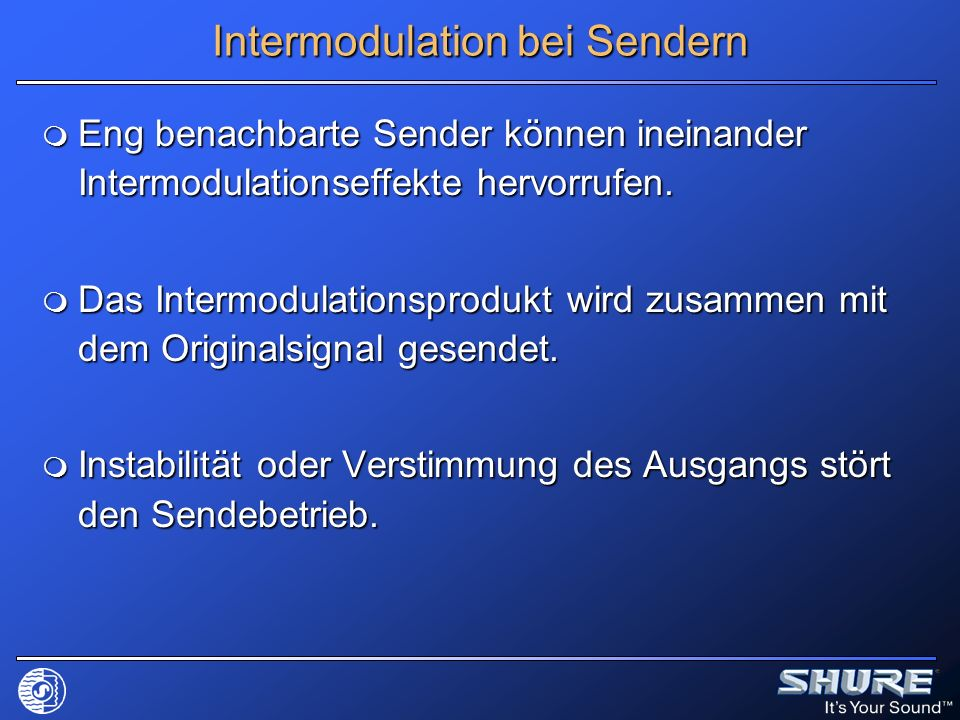 Intermodulation bei Sendern