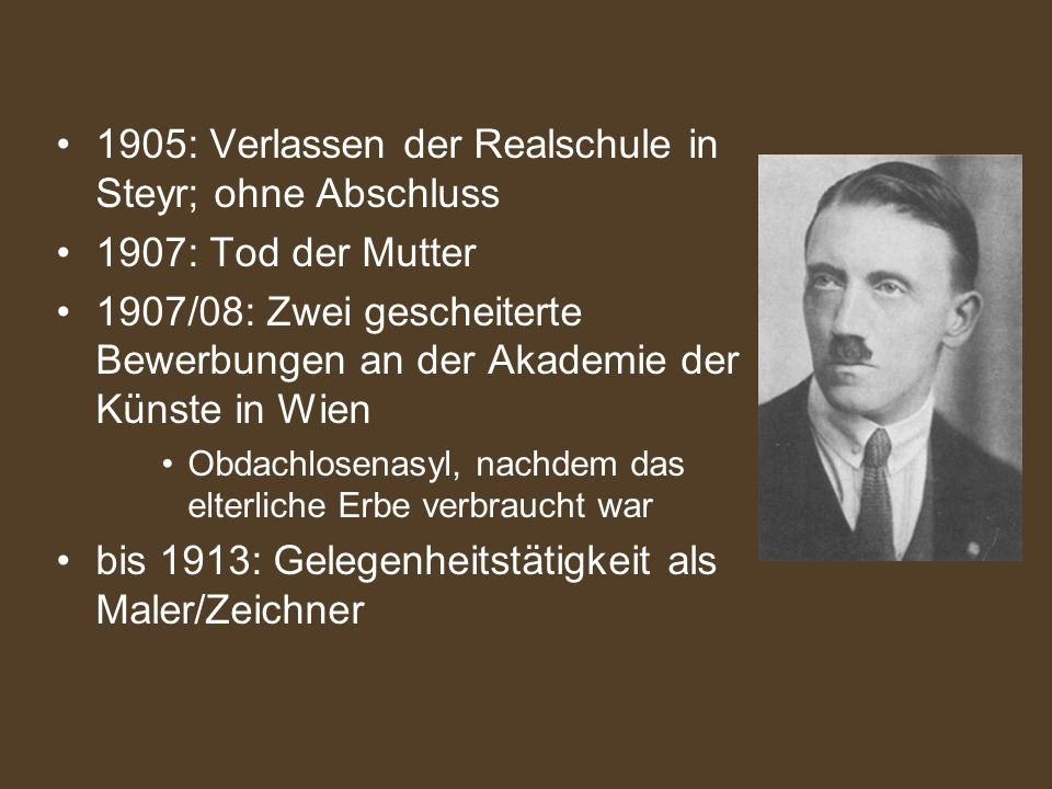 3 1905 - Hitlers Lebenslauf