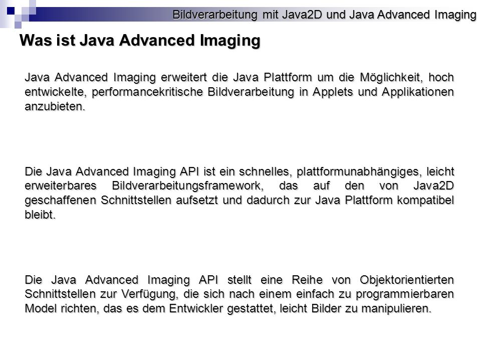 Was ist Java Advanced Imaging