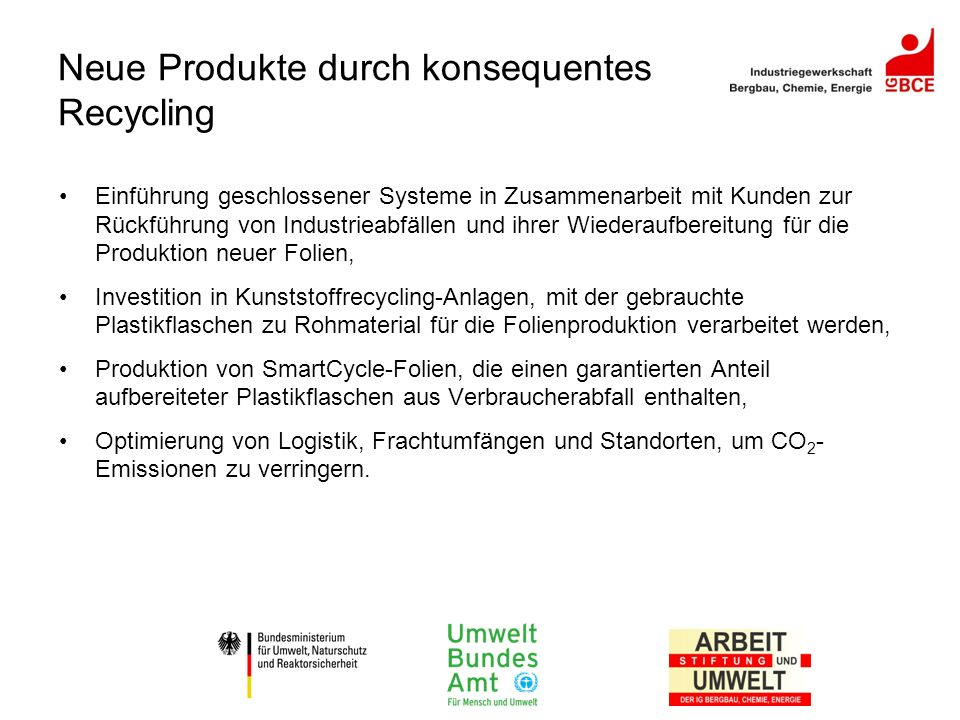 Neue Produkte durch konsequentes Recycling
