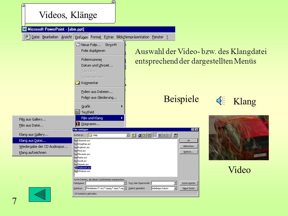 Videos, Klänge Beispiele Klang Video 7