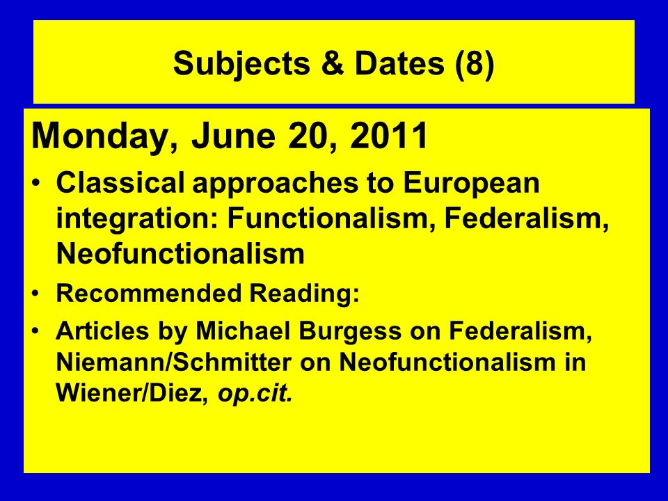 Monday, June 20, 2011 Subjects & Dates (8)